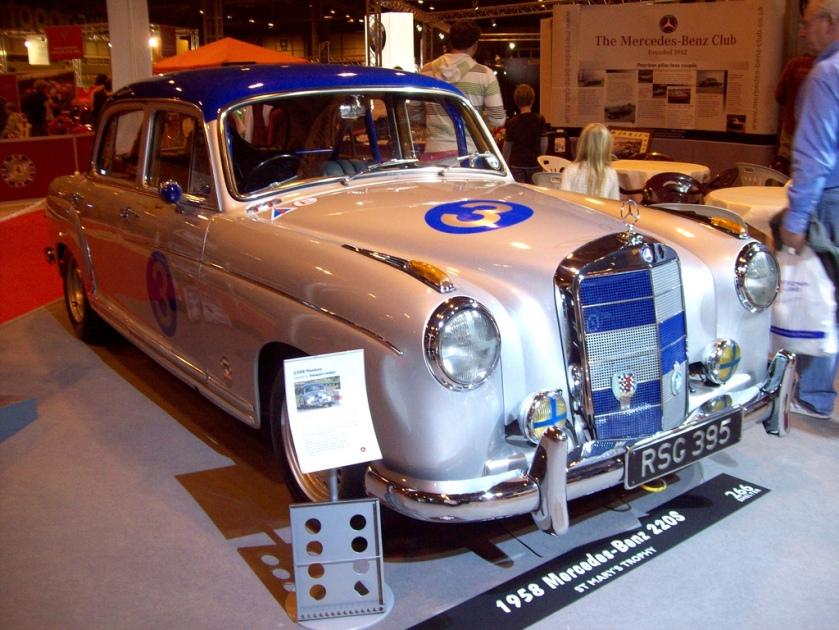 1958 Mercedes 220S (Pontoon)  Engine 2195cc S6