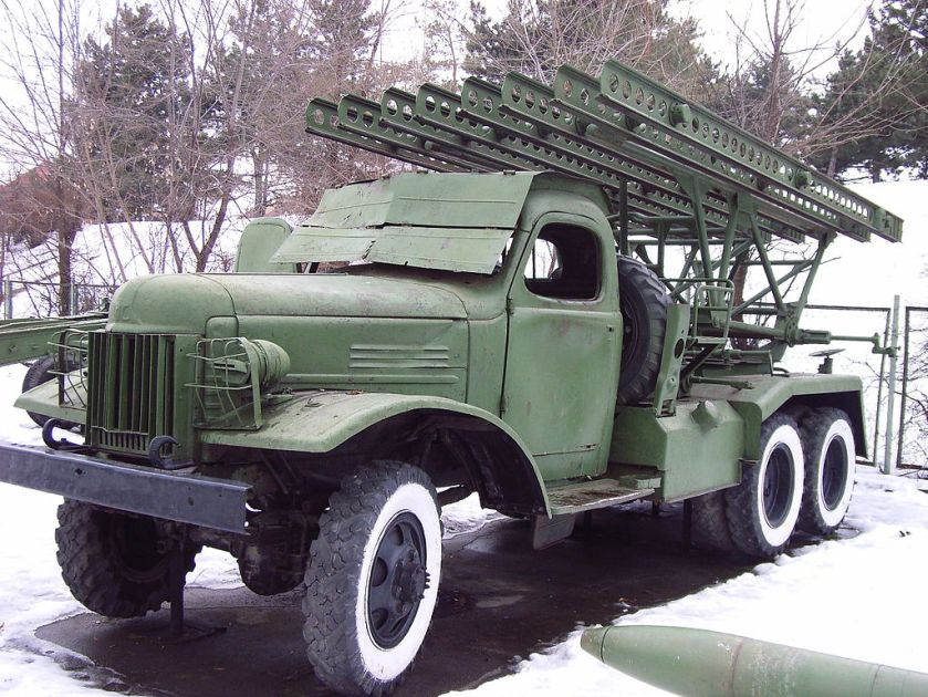 1958 ZiS-151-based BM-13-16 multiple rocket launcher