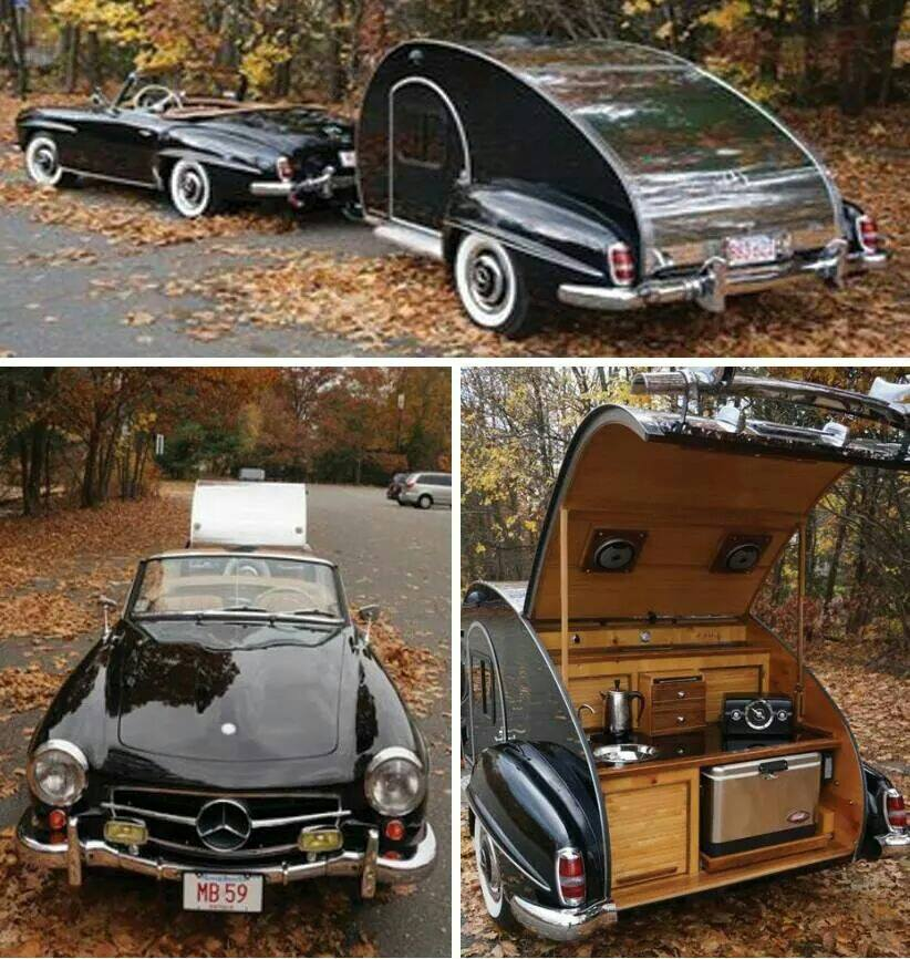 1959 Mercedes Benz with Caravan