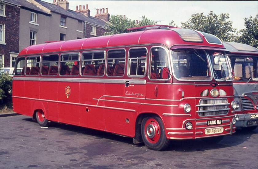 1960 1400UA Bedford SB1 with a Yeates Europa C41F body