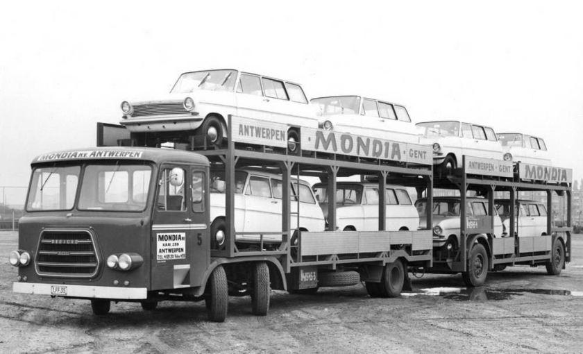 1960 Bedford met Opel Kadetts