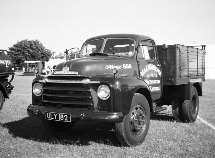 1960 Bedford tipper at Bath Lansdown rally 1986