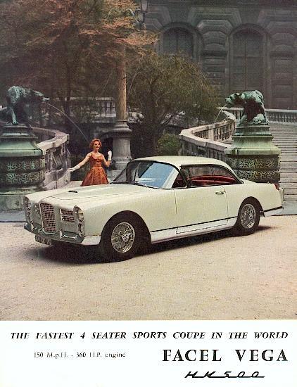 1960 facel vega hk 500