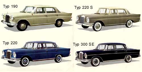 1960 mercedes benz fintails-a