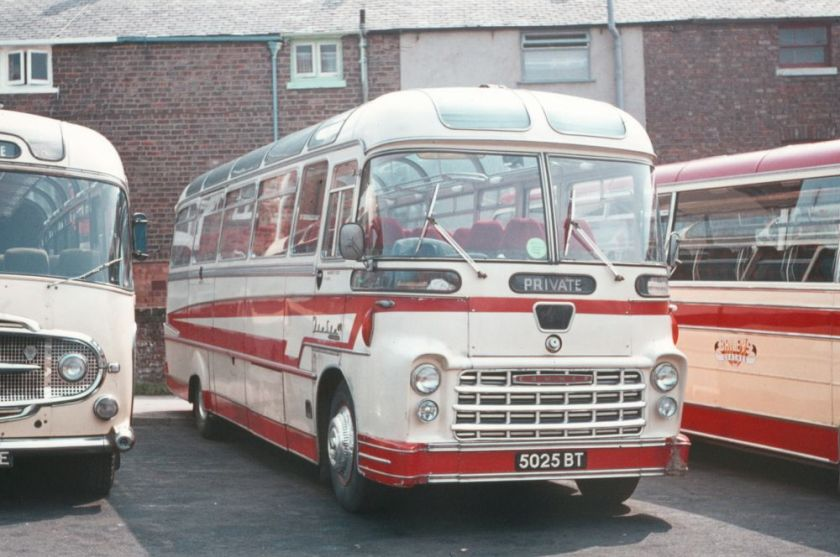 1961 5025BT, a Commer Avenger IV with Yeates Fiesta Continental C41F bodywork