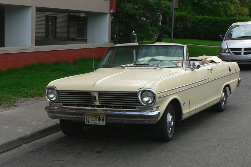 1962-71 Acadian Beaumont convertible. This car is virtually identical to the Chevy II Nova.