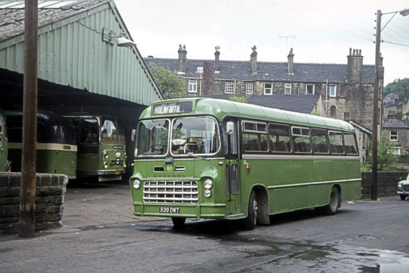 1963 539DWT, a Bedford SB5 with Yeates Pegasus DP44F body