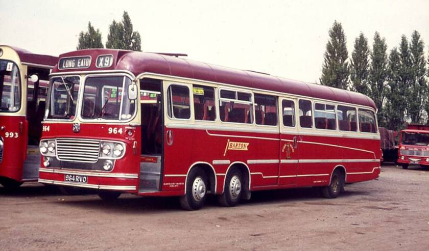 1963 964RVO, was one of four Bedford VAL14s fitted with Yeates C50D bodywork