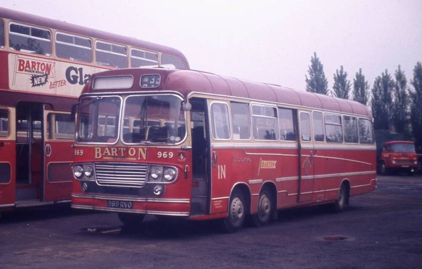 1963 969RVO, a Bedford VAL14 with Yeates Europa DP56D bodywork