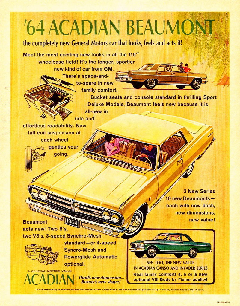1964 Acadian Beaumont Ad