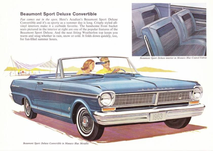 1964 Acadian Beaumont Sort Deluxe Convertible