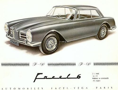 1964 facel vega f6 coupe