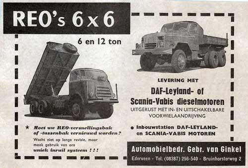 1964 reo-ginkel-Automobielbedrijf Gebr. van Ginkel, Ederveen