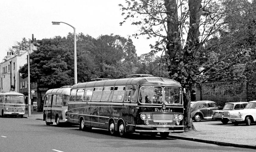 1964 Rickards, London W2 AYV92B 1964 Bedford VAL14 Yeates C52F at Hampton Court