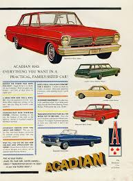 1965 Acadian Canso Sport Coupe and 4-Door Sedan