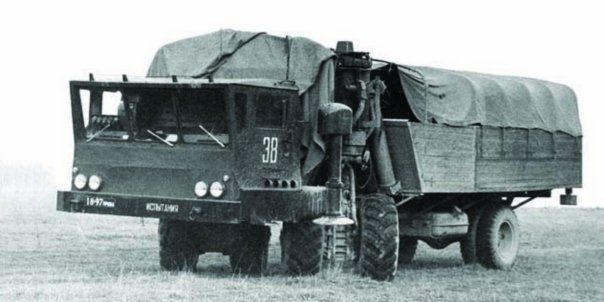 1967 ZIL-135MSh self-propelled platform (wheel arrangement - 4x4 + 2x2)