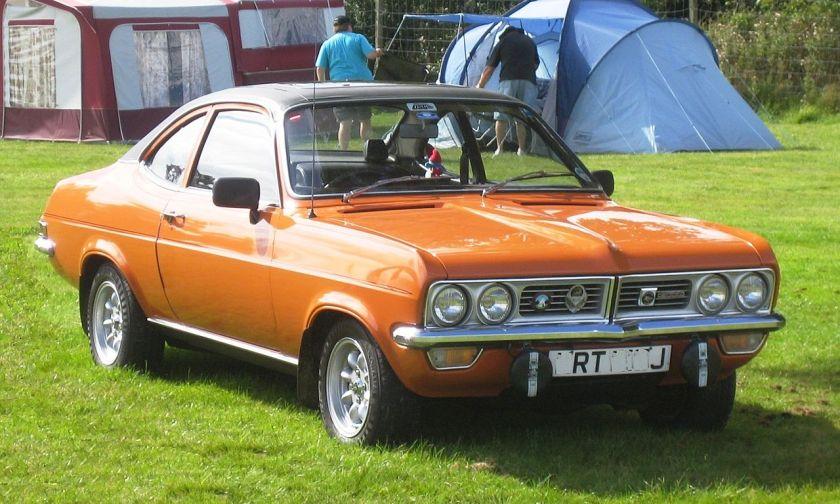 1970-75 Vauxhall Firenza license plate