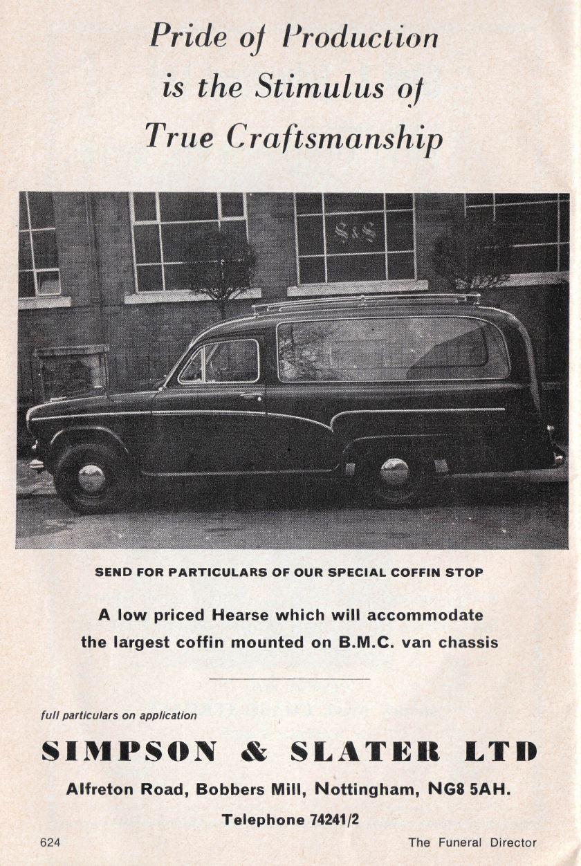 1970 Austin A60 Hearse ad