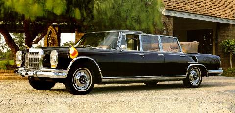 1970 mercedes benz 600 landaulet-black
