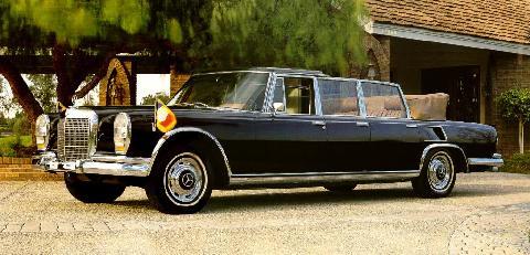 1970 mercedes benz 600 landaulet-black