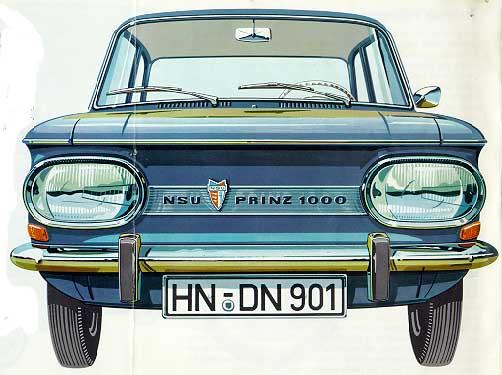 1970 NSU PRINZ 1000 voor