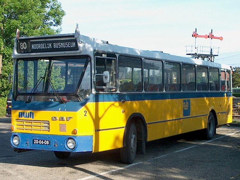 1975 DAF-streekbus Noord-Westhoek 2, met carrosserie van ZABO.