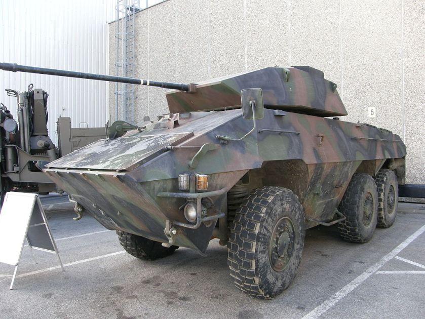 1977 gebaute Radpanzer
