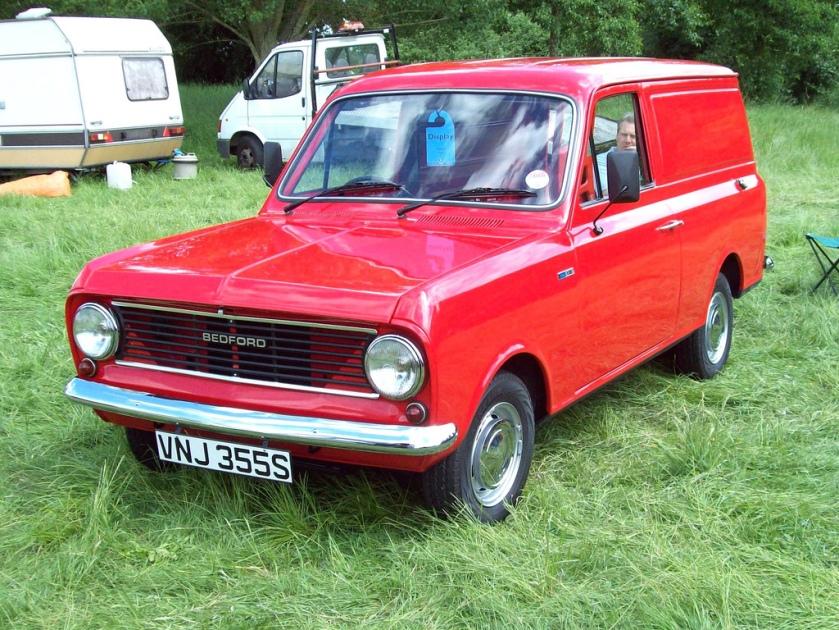 1979 Bedford HA 8cwt Van engine 1256cc based on the Vauxhall Viva HA Saloon