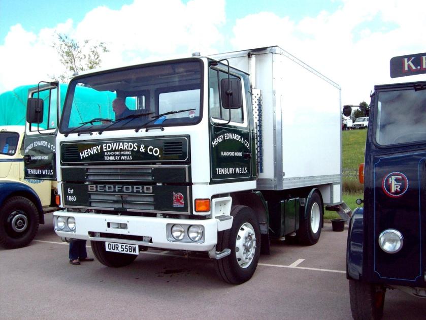 1980 Bedford TM4400 Box Van Registered OUR 558 W