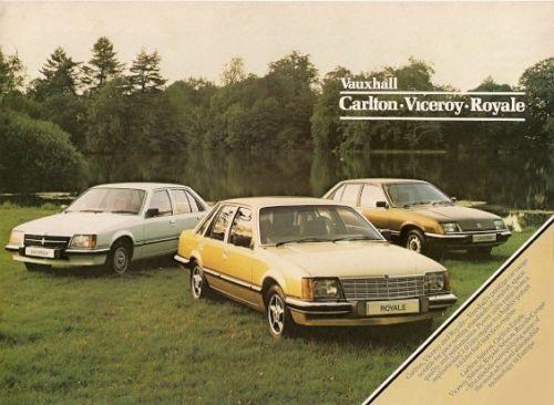 1981 VAUXHALL CARLTON, VICEROY & ROYALE BROCHURE V2519