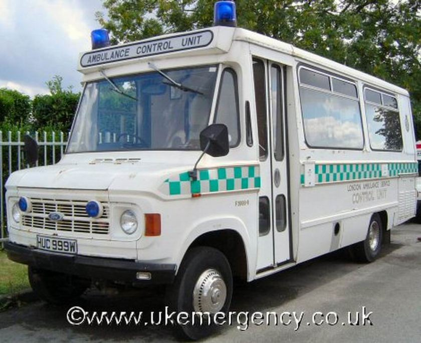 1982 Ambulance Ford  London Ambulance Service Control