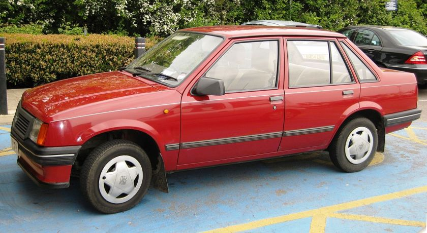 1983-90 Vauxhall Nova 4door notchback1196cc(89)