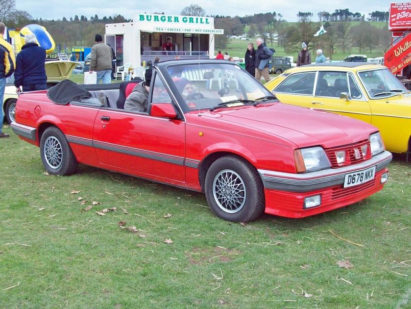 1986 Vauxhall Cavelier Convertible  Engine 1796cc S4