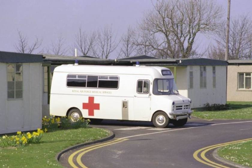 1988 Bedford CF Ambulance at RAF Boulmer in GB
