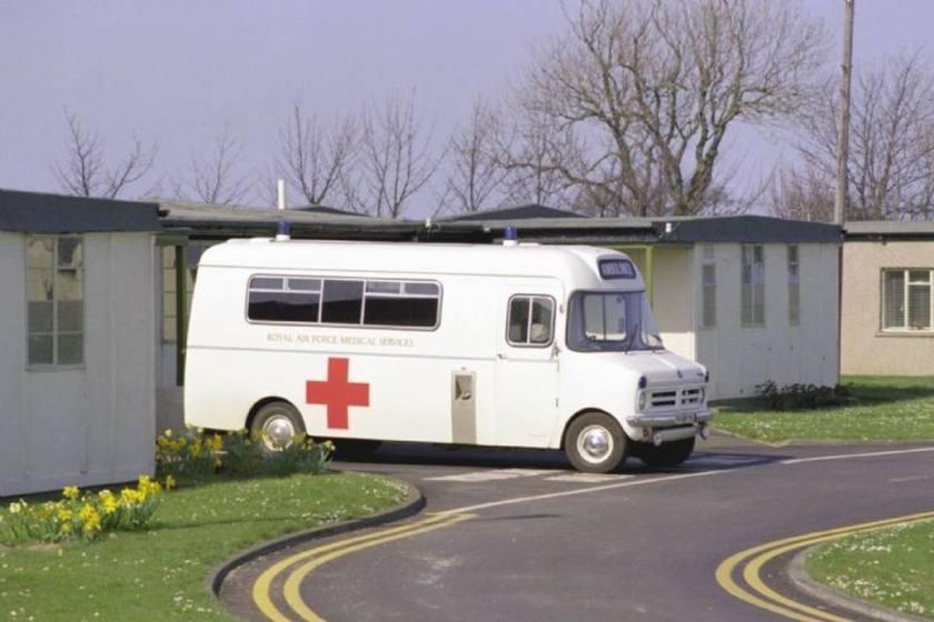 1988 Bedford CF Ambulance at RAF Boulmer in GB