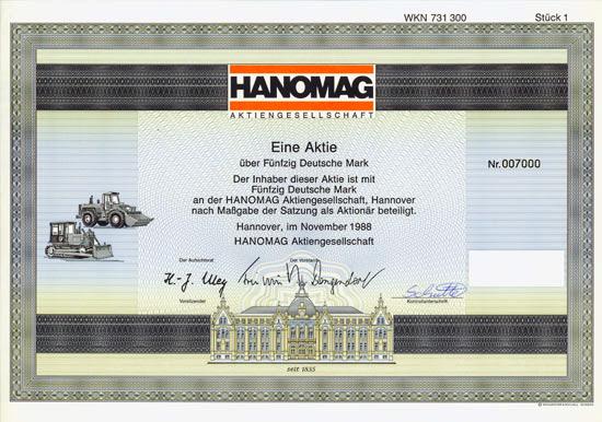 1988 Hanomag-Inhaberaktie-50DM