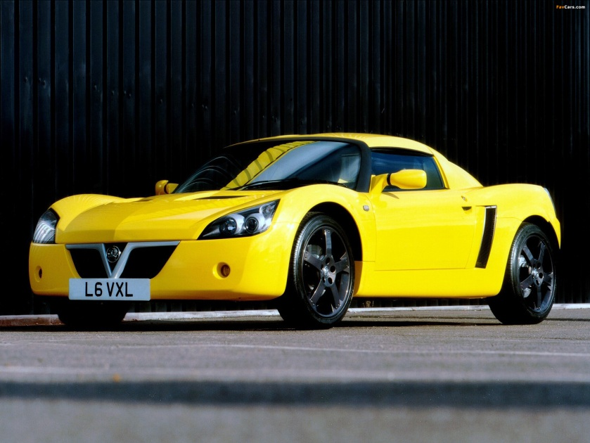 2001 Vauxhall VX220 Lightning Yellow