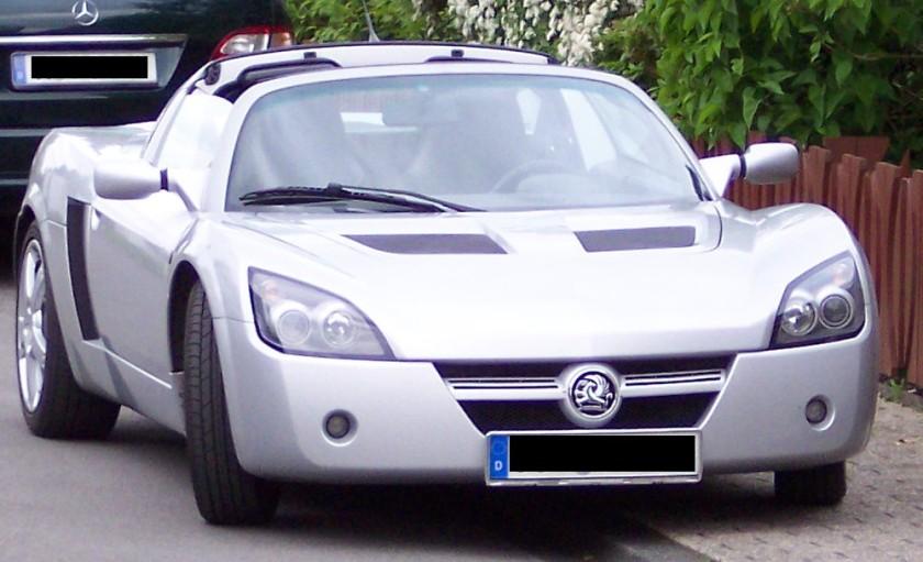 2004 Vauxhall Speedste silver f