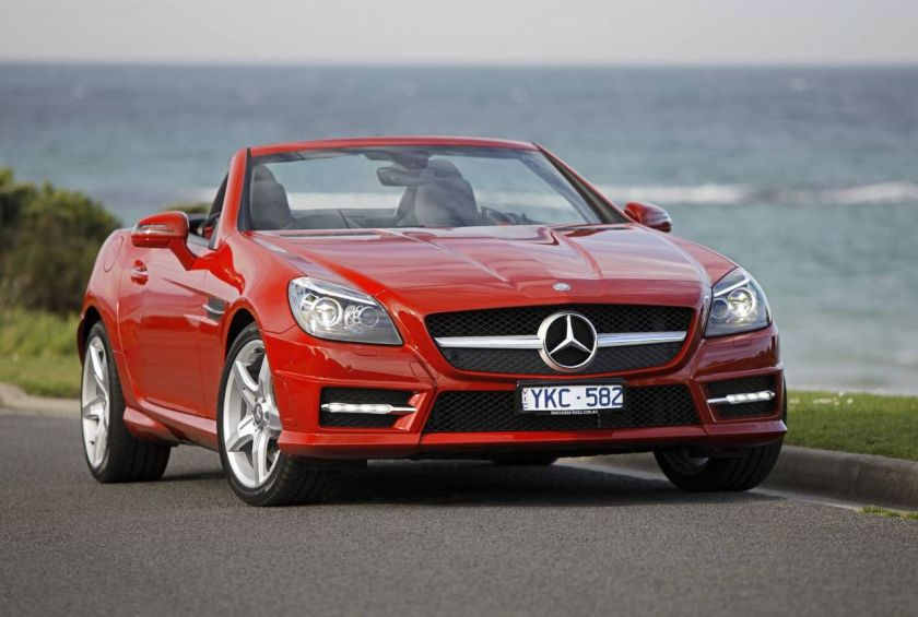 2011 Mercedes-Benz SLK 350 BlueEFFICIENCY (R172) roadster (Australia)
