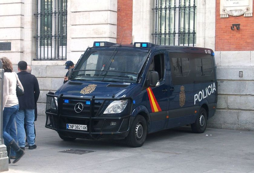 2012 Mercedes-Benz Sprinter used as a police bus