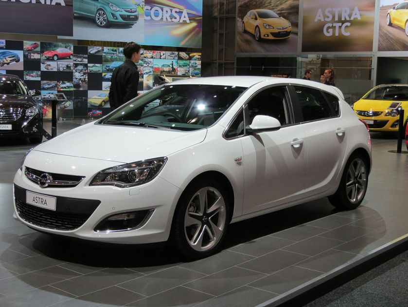 2012 Opel Astra (AS) Sport 5-door hatchback
