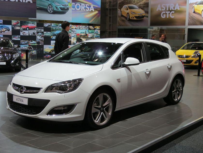 2012 Opel Astra (AS) Sport 5-door hatchback