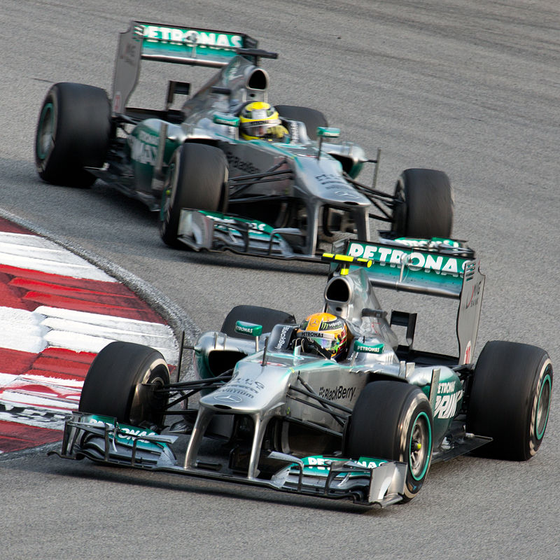 2013 Mercedes Formula One team at the 2013 Malaysian Grand Prix.