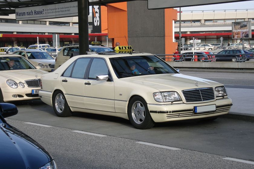 A W140 as a German taxicab