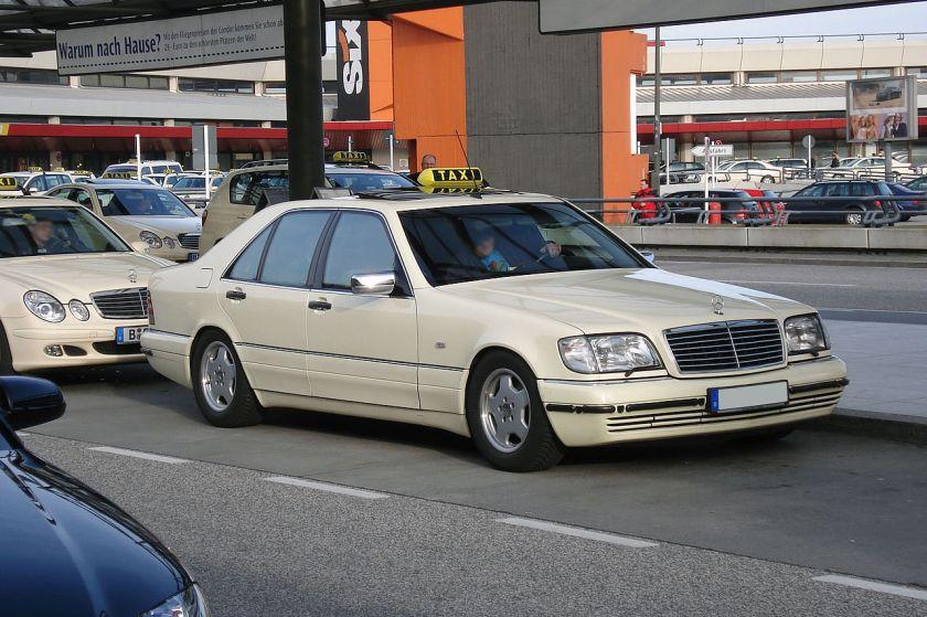 A W140 as a German taxicab
