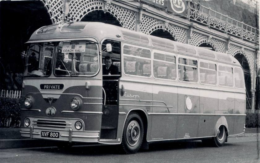 AEC Reliance with Yeates Europa body of Cullings seen when new at the Brighton Coach Rally  XVF800
