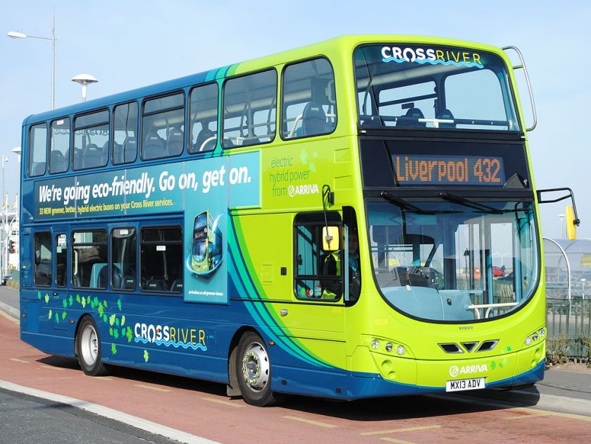 Arriva North West Wright Eclipse Gemini 3 bodied Volvo B5L in Brighton-le-Sands in March 2013
