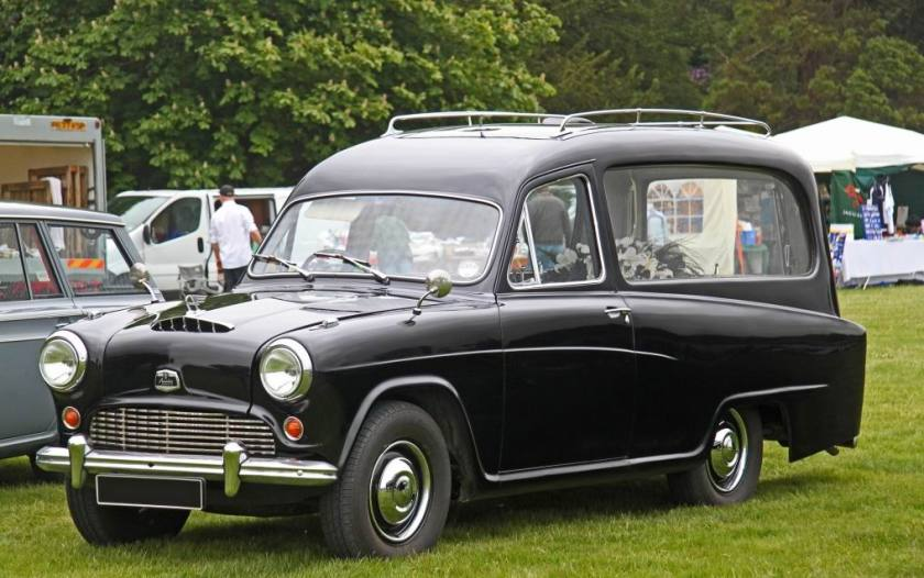 Austin A55 Hearse.  This conversion is by Woodall Nicholson.
