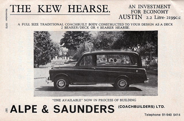 Austin FX4 taxi based hearse.
