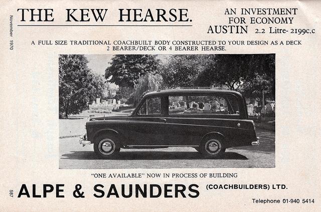Austin FX4 taxi based hearse.